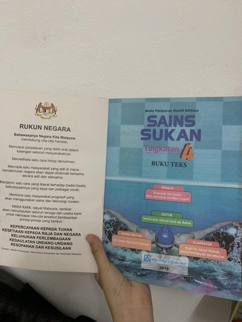 Buku Teks Sains Sukan Tingkatan 4 Shopee Malaysia