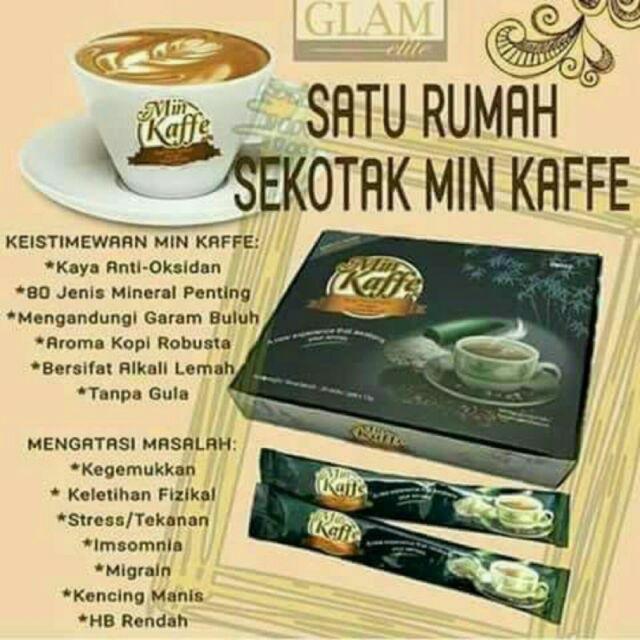 MIN KAFFE MINERAL COFFEE 20SACHETX12G 100% ORIGINAL HQ+FREEGIFT