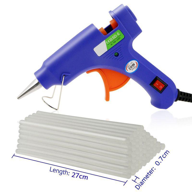 50 Pcs Black Hot Melt Glue Gun Adhesive Sticks 7mm x 190mm for Crafting Models