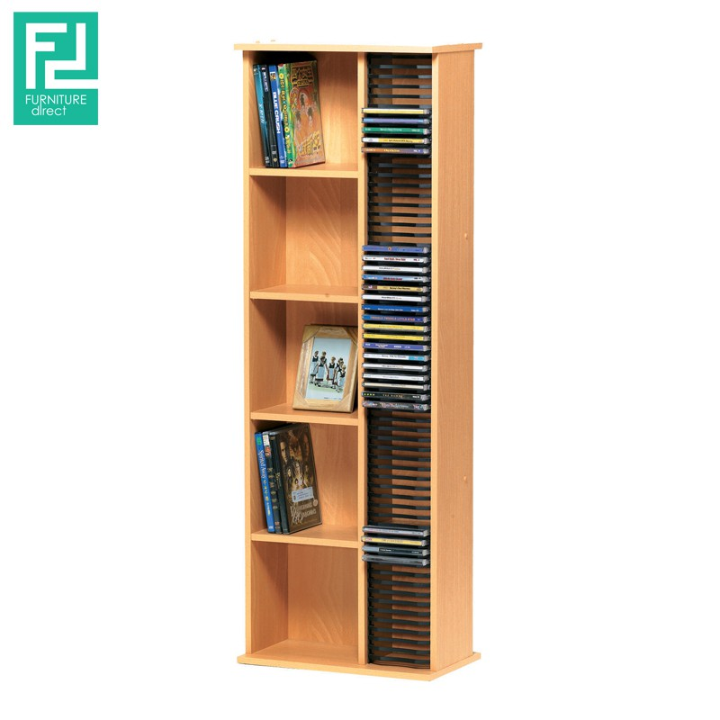 Furniture Direct BILLY CD263 cabinet up to 64CDs- beech