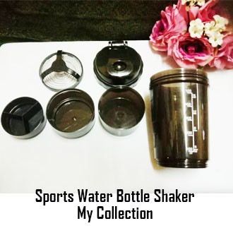 Sports Water Bottle Shaker (Plastic) 500ml / 16 Oz