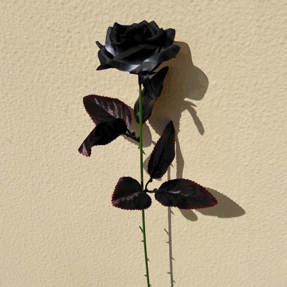 9pcs Artificial Black Rose Bouquet Simulation Flower Home Wedding