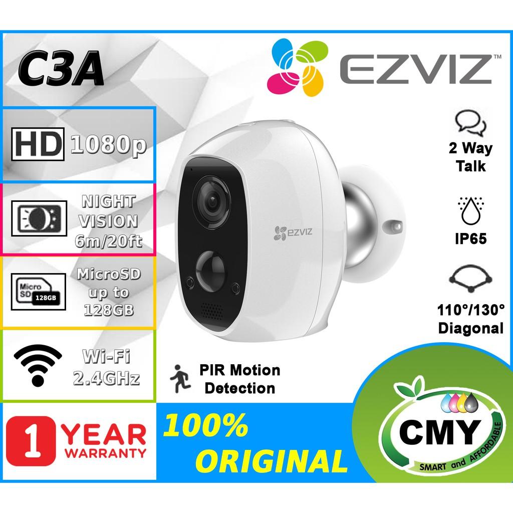 EZVIZ C3A 1080P Battery-Powered,100% Wire-free,Wireless Security Camera PIR Motion Sensor With Solar Panel