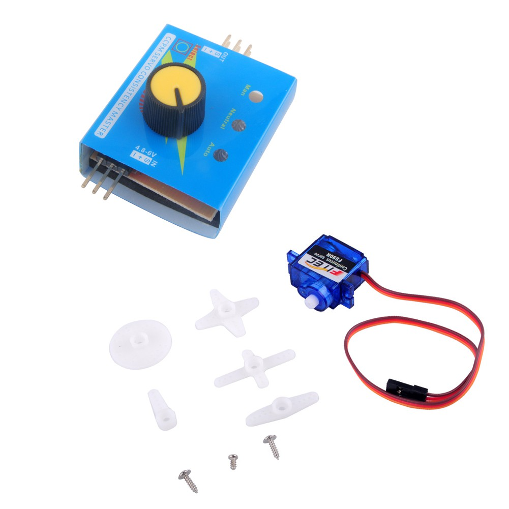 Feetech FR90R Micro 360 Degree Continuous Rotation RC Servo Motor with  Tester