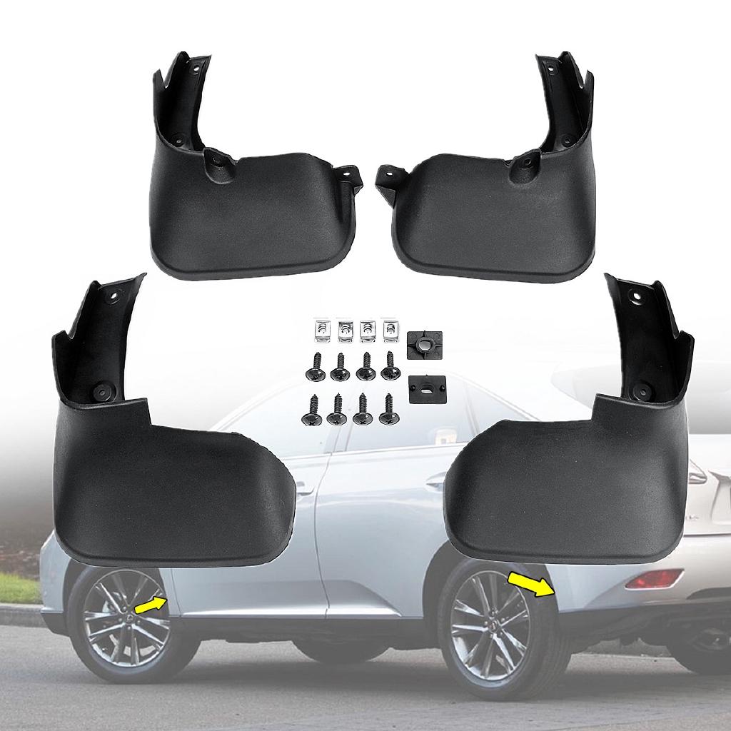 New 4pcs Plastic Tire Splash Guards Mud Flaps For Lexus RX350 RX450H 2016-2019