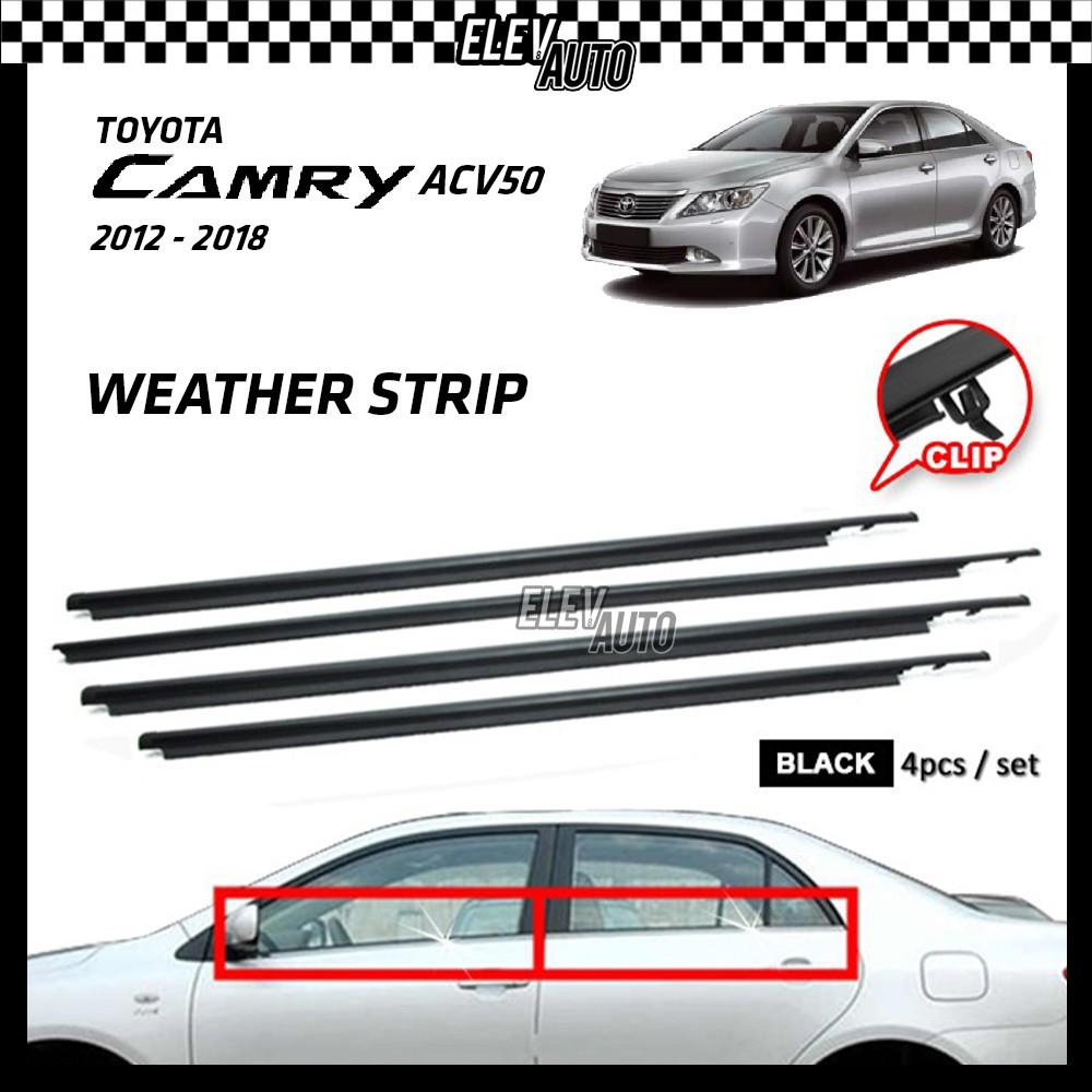 Toyota Camry ACV50 2012-2018 Weather Strip Weatherstrip Window Moulding Belt 4pcs