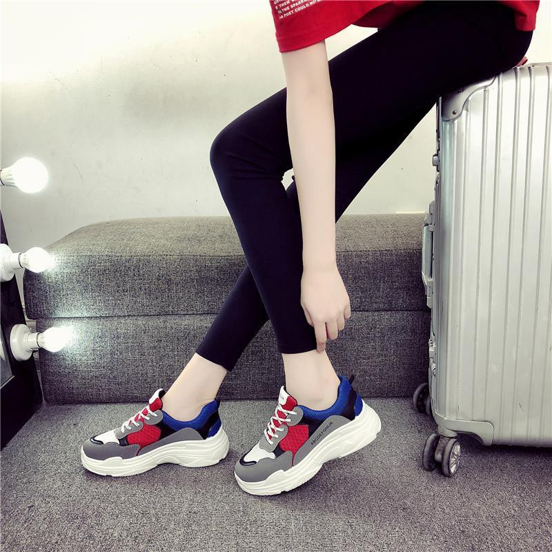 New autumn sports shoes women's breathable thick-soled old shoes junior  high school students girls casual shoes fashion