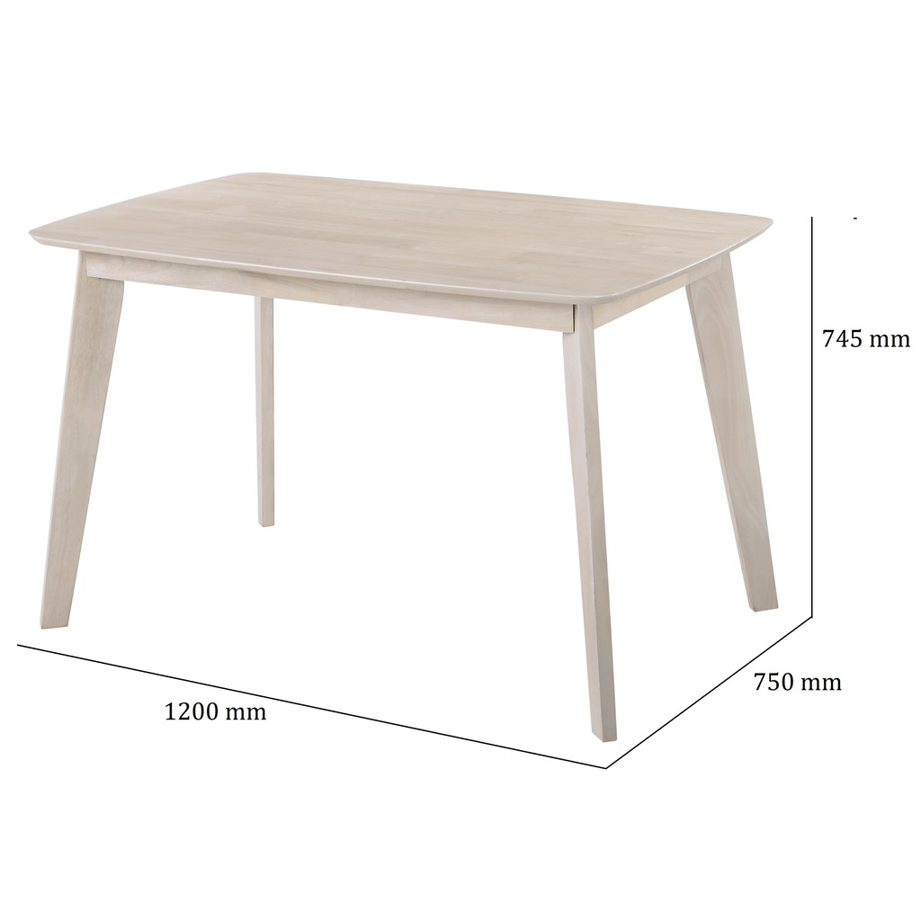 MITTI full solid rubberwood dining table/ meja makan/ meja makan kayu