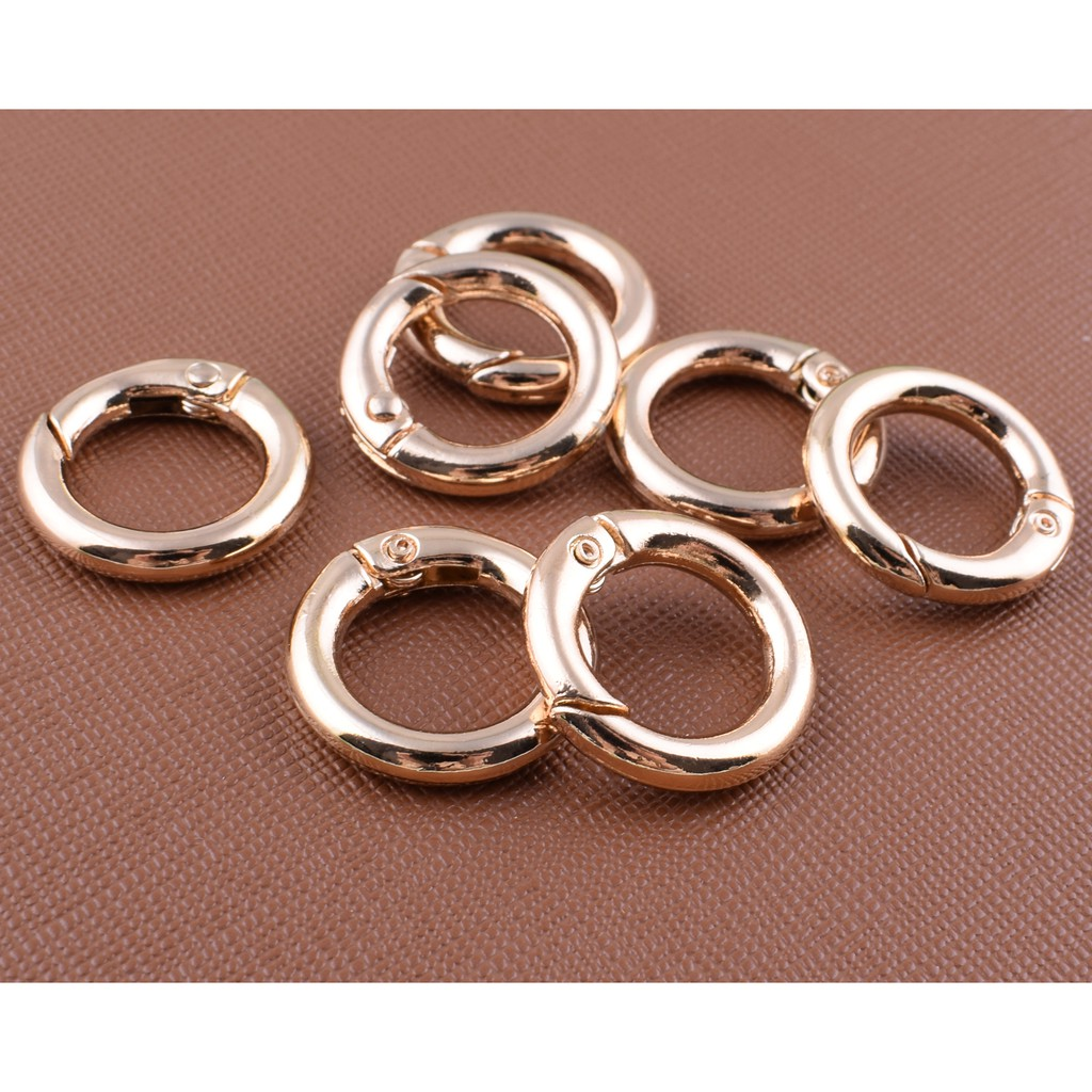 Split ring Purse strap rings 8pcs Round rings clasp ring Metal o ring 30mm Purse ring Bronze  O rings Strap rings