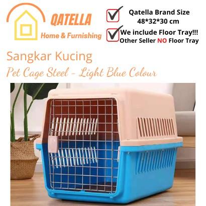 Qatella Pet Carrier FREE American CATNIP 5g Cat Cage / Dog Cage / Kucing Sangkar/ Carrier Step/Pet Cage/Sangkar Kucing