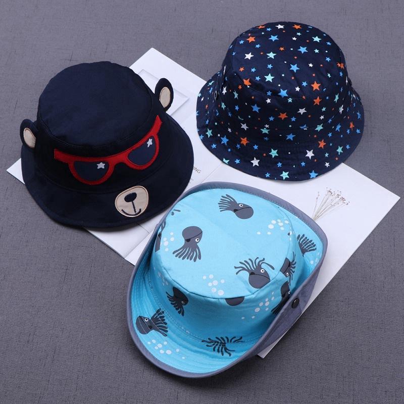 f806a901f963f 💕Se7en Cartoon baby boys girls print flower pot cap fisherman hat cotton  baby | Shopee Malaysia