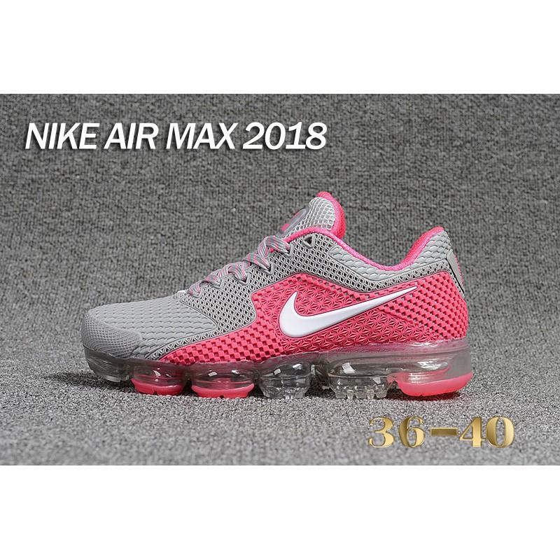 new concept e3ba3 a1bea Original Nike Air VaporMax 2018.5 Sneakers Grey/Pink Women Running Shoes  Size 36
