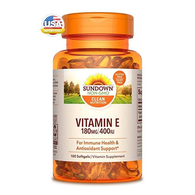 พร้อมส่ง_ Sundown Naturals, Vitamin E, 400 IU, 100 Sof