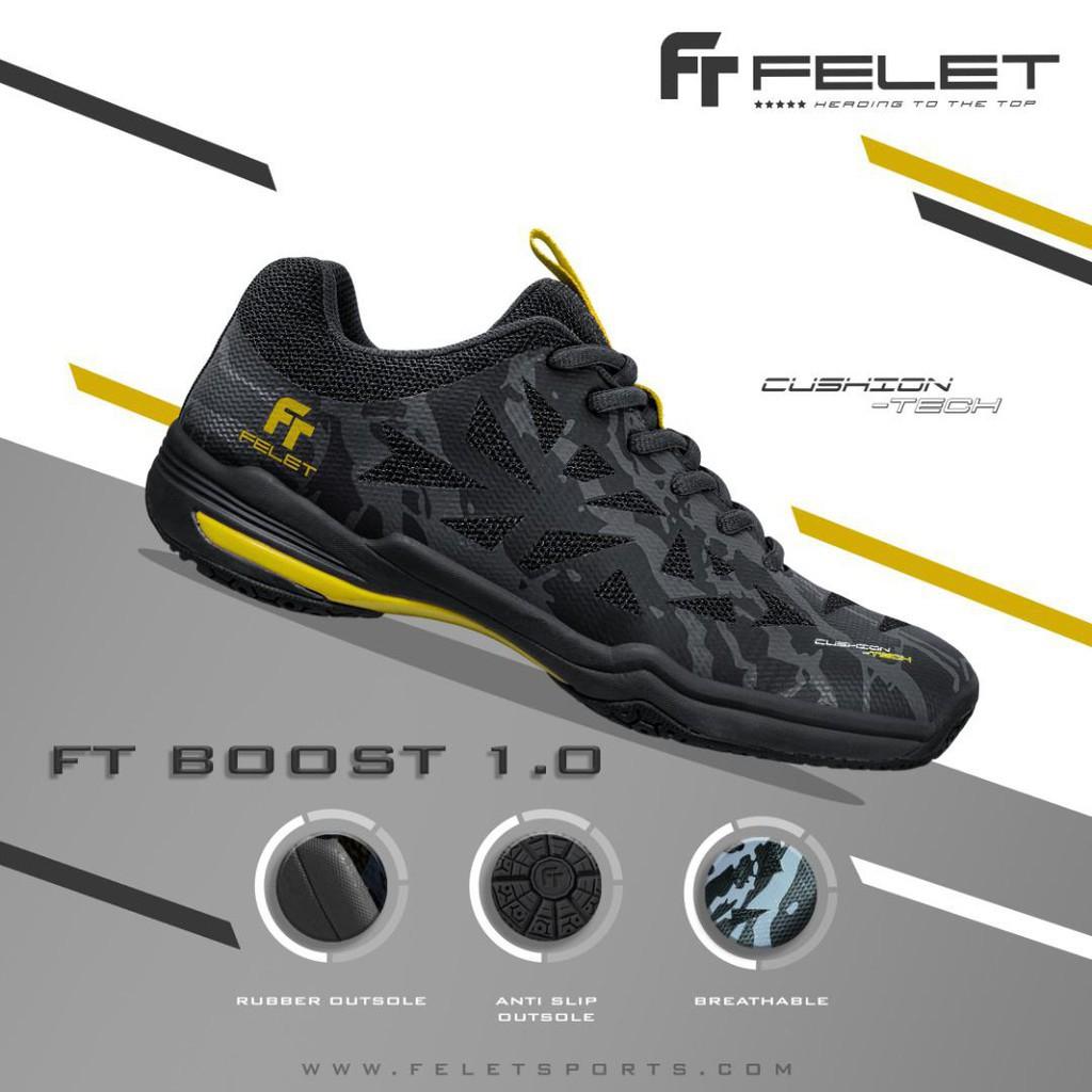 Felet Badminton Indoor Shoe FT BOOST 1.0 BLACK