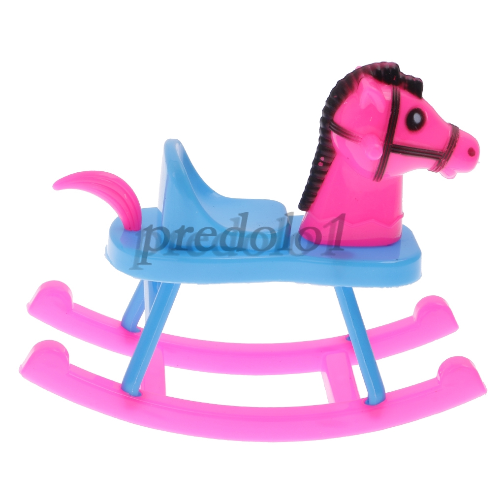 1//6 Scale White Rocking Horse Model Riding Toy For 12inch Action Figure Doll