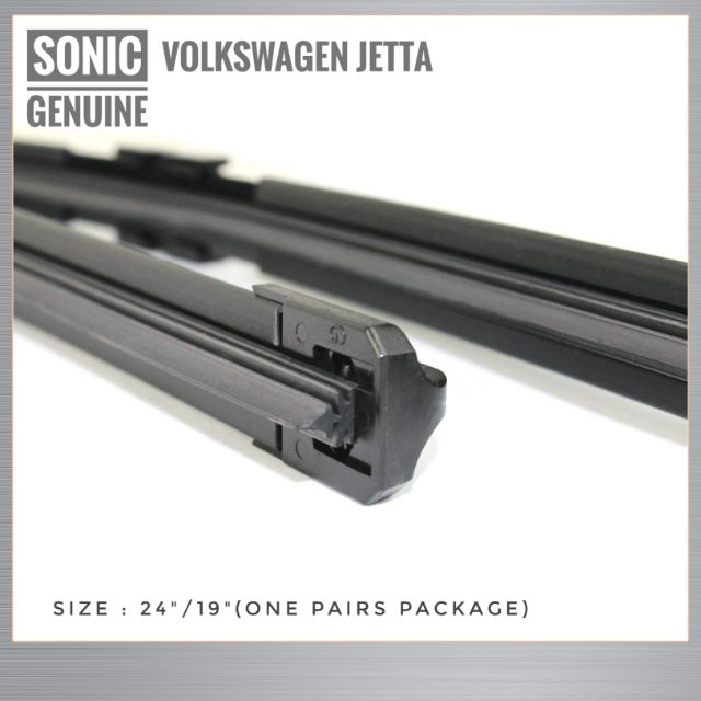 "Volkswagen Jetta Windscreen Wiper Wiper Blades OEM Genuine Sonic Genuine Parts One Pairs 24""/19"""