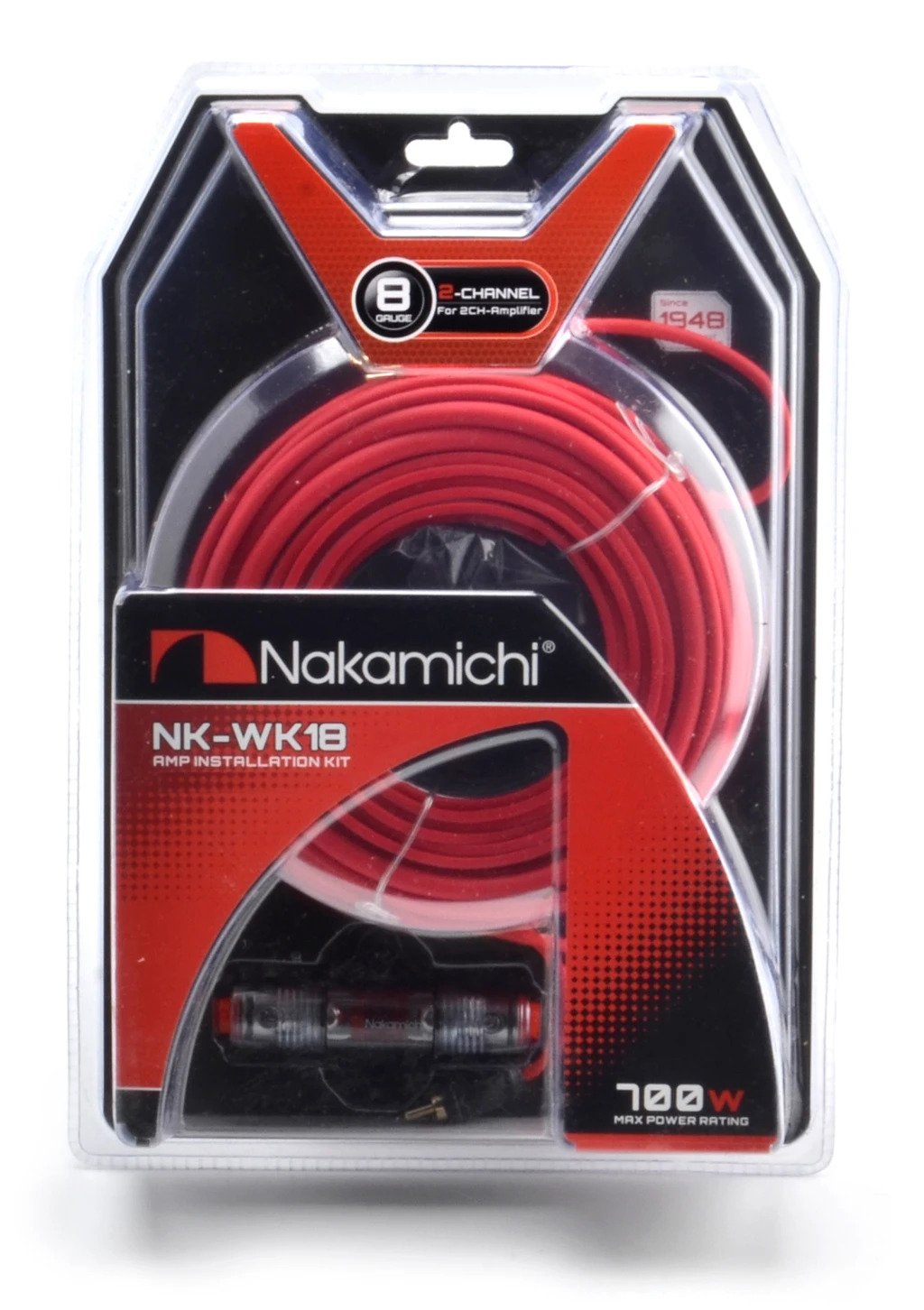 Nakamichi 8GA Wiring Kit NK-WK18 Cable Set For Amplifier 2-Channel