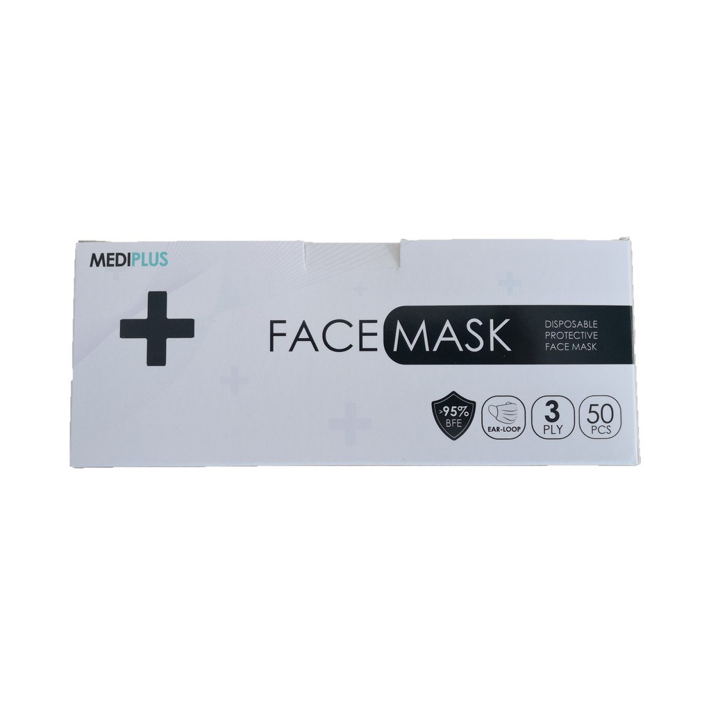 MEDIPLUS 3 PLY Disposable Face Mask BFE95% (50s)