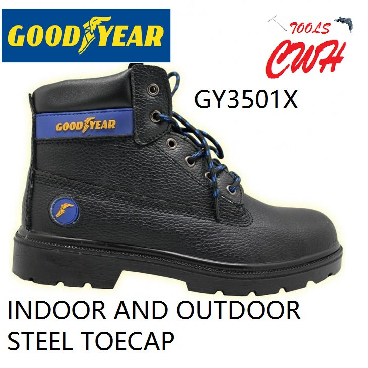 GOODYEAR WING VERSA X GY3501X SAFETY SHOE SHOES BOOT BOOTS CWH TOOLS BLACK HARDWARE BLACKHOME