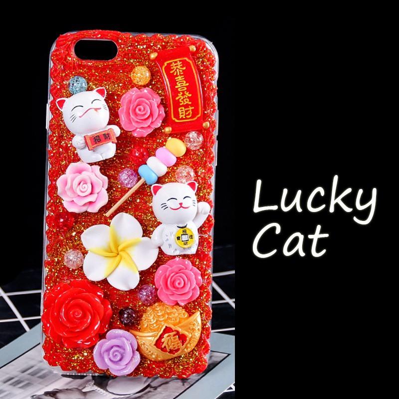 best service 14b53 b390a DIY Phone Case Handmade Kit Lucky Cat Style Unique Soft TPU Back Phone Case