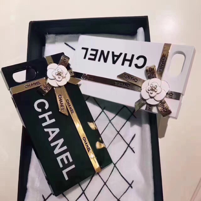 the latest 7e9ca bd491 iPhone 6 6s Chanel Gift Box 3D Rose Acylic TPU Phone Case With Ribbon