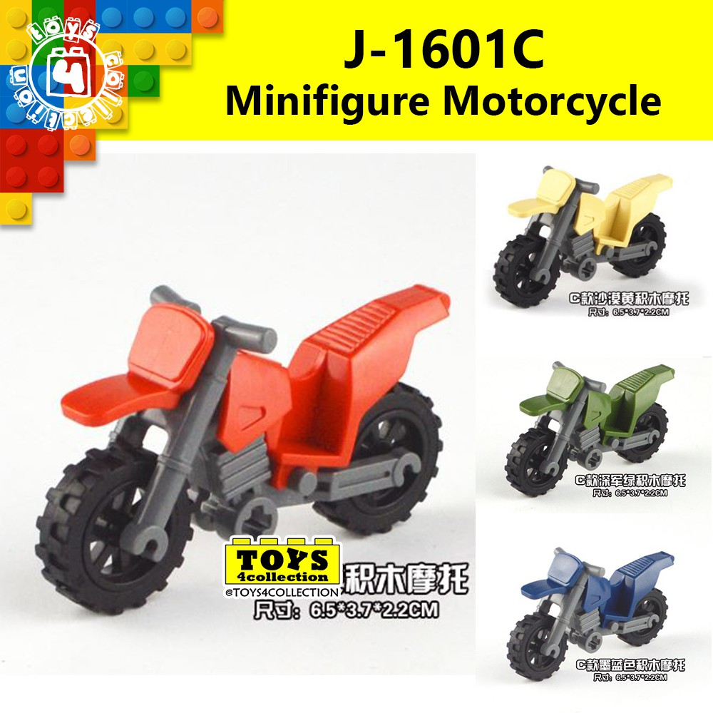 LEGO LIGHT BLUISH GREY MOTORCYCLE PIECE MOTOR BIKE MINIFIG ACCESSORY