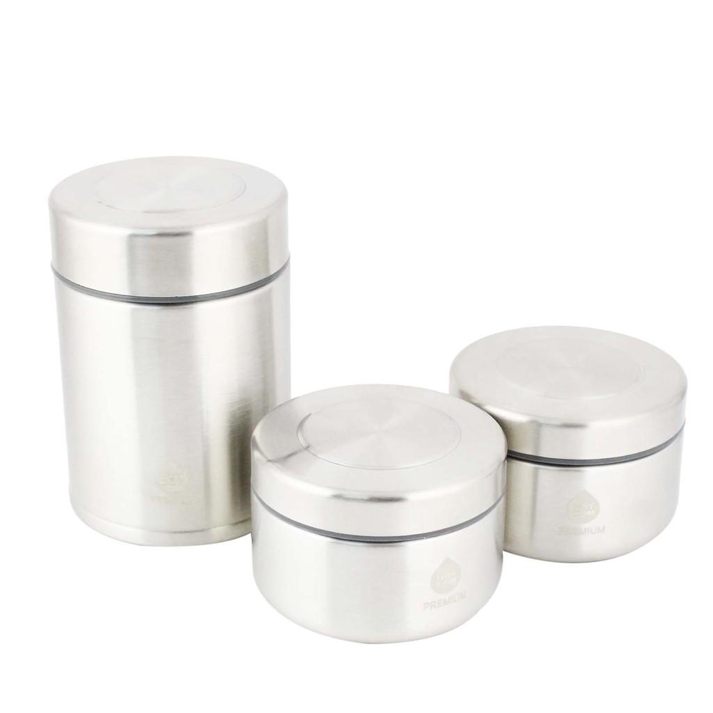 Hotcom Premium Vacuum Lunch Box Stainless Steel Set (3's) RYW-8005