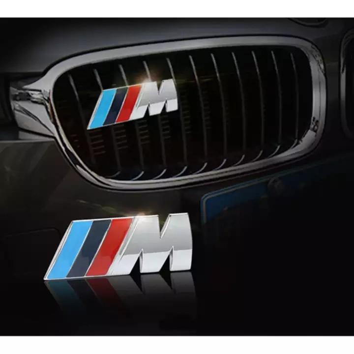 3D Chrome Badge Metal Power Car Fashion Logo for BMW M M3 M5 X1 X3 X5 X6 E30 E34 E36 E39 E46 E60 E90 E92 BMW M Front Grille Emblem