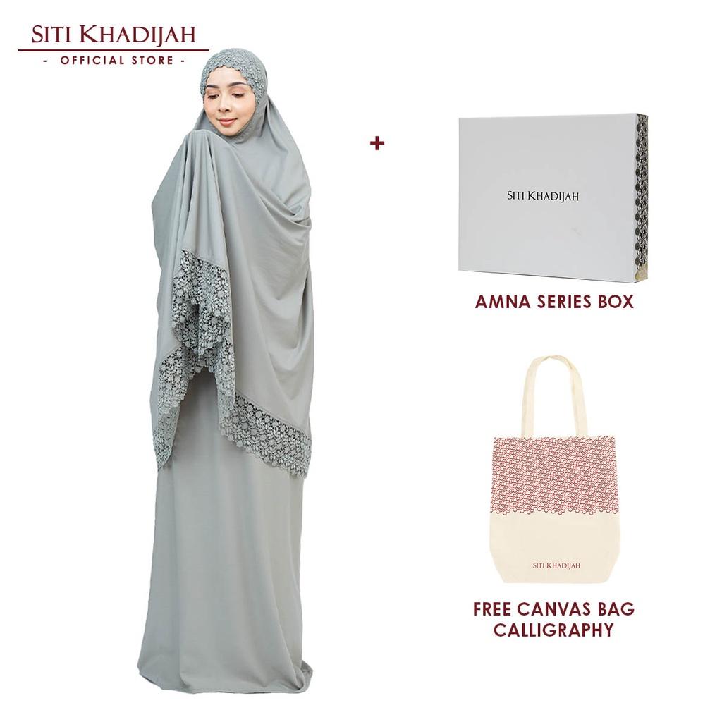 [Mawlid Sale] Siti Khadijah Telekung Modish Amna with Amna Series Box + Free Canvas Bag Calligraphy