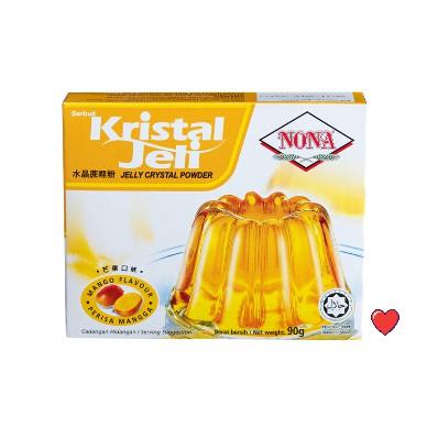 NONA Kristal Jeli / Jelly Crystal Powder ~ Mango Flavour @ 90g ( Free Fragile + Bubblewrap Packing )