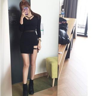 1c1bdd9340 Korean Style Black Package Hip Skirts Gap Irregular Hem1 Pencil Micro Mini  Skirt | Shopee Malaysia