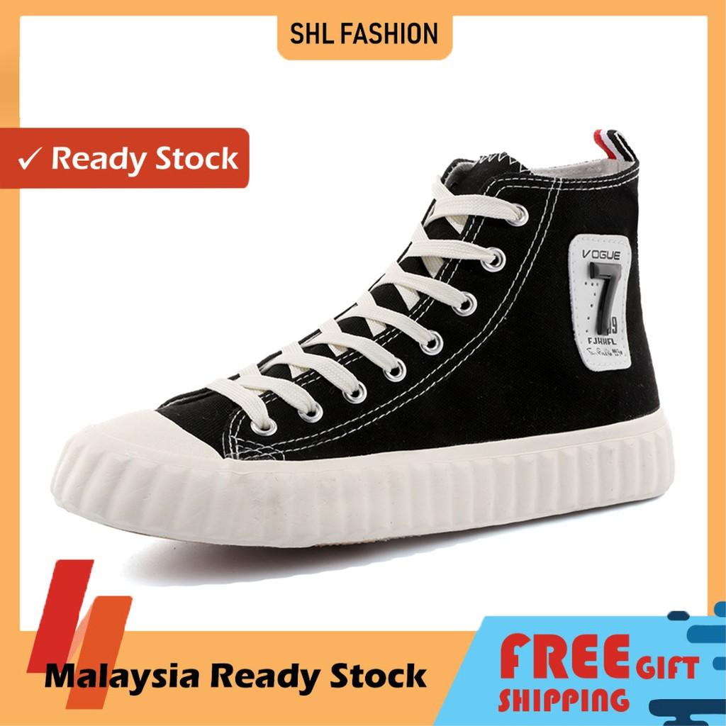 READY STOCK SHL Fashion shoes men Summer new breathable large and small size flying sports Kasut Lelaki
