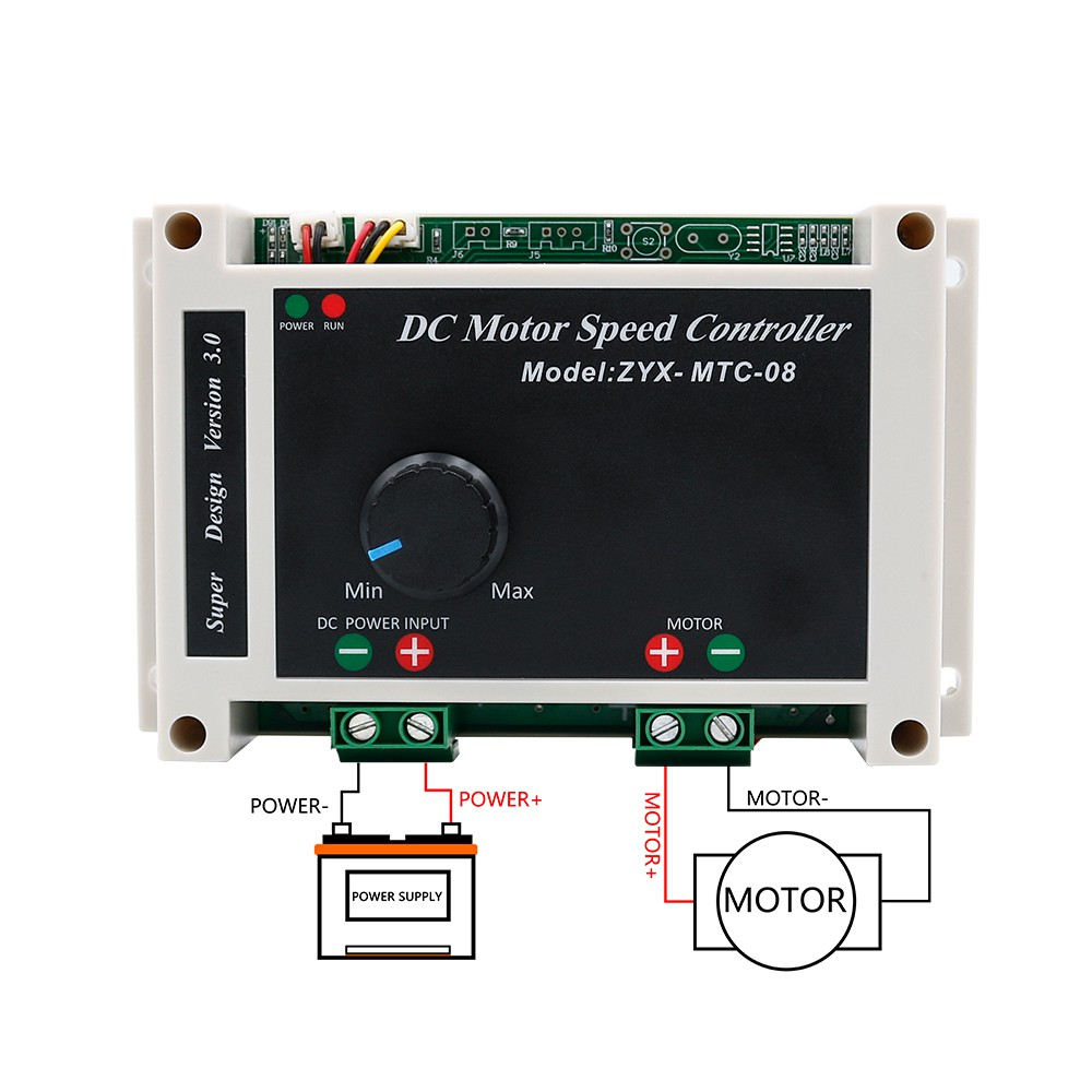 DC High Power PWM Motor Speed Controller Switch 10-50V 3000W DC 12V 24V 48V 60A For Heat Dissipation Generated By The Mos Tube