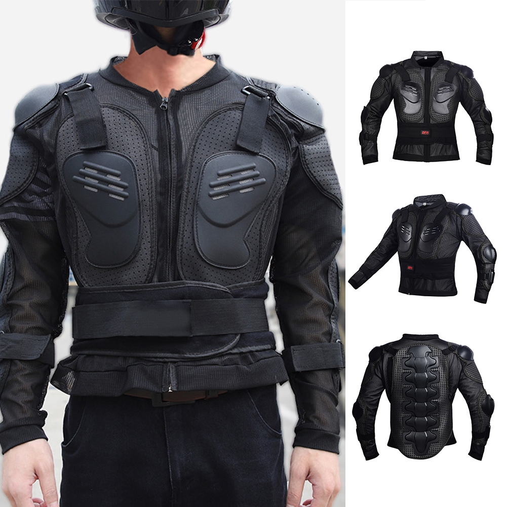 Red, M Motorcycle Motorbike Full Body Armor Protector Pro Street Motocross ATV Guard Shirt Jacket with Back Protection