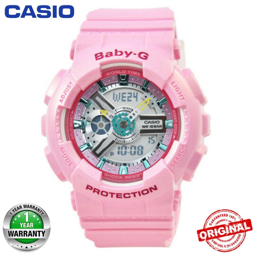 Casio Baby G Matte Ba 110ga 1a Shopee Malaysia 112 4a Pink