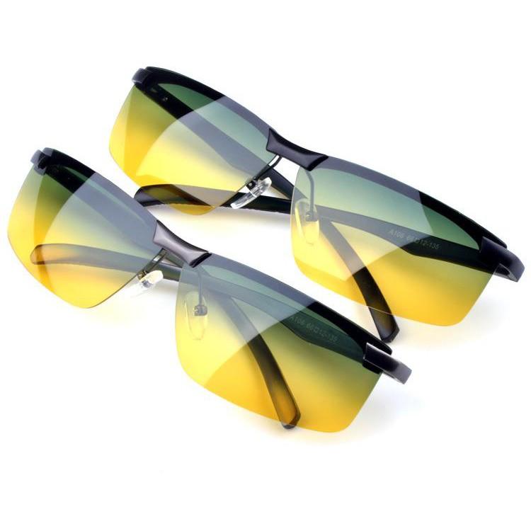 2371e68757 Korean star Quan Zhilong same paragraph yellow transparent sunglasses male tide  retro night vision s