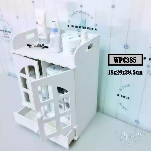 [ READY STOCK ]  Waterproof Wpc Drawer Cabinet Storage Rack Jualan Murah Furniture Box Almari Perabut Kid Baby Kitchen