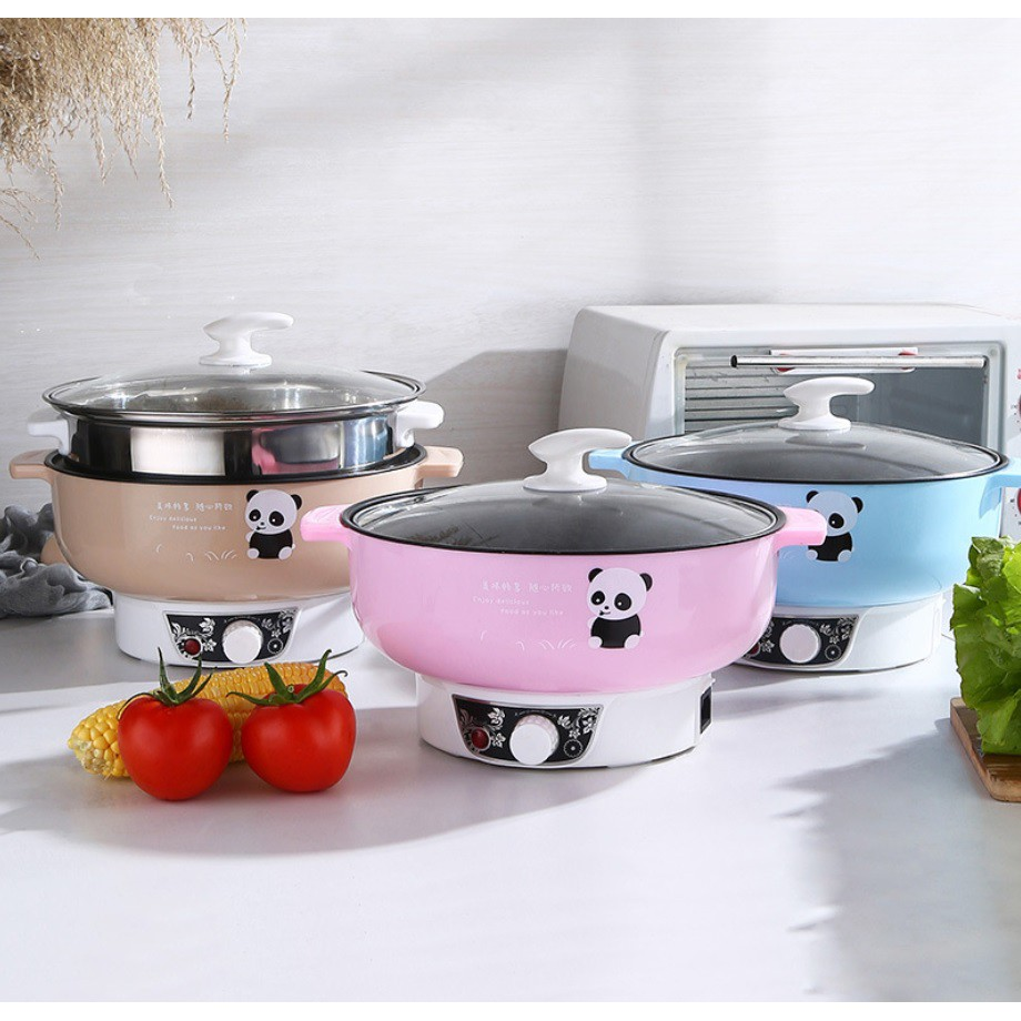 [NEW UK PIN] LOPOL PORTABLE ELECTRIC NON STICK MULTIPURPOSE STEAMBOAT MULTIFUNCTION RICE COOKER POT STEAMER BREW BRAISED