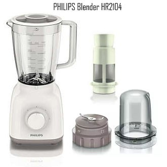 PHILIPS Daily Collection Electric Pressure Cooker 5L- HD2103 / VIVA Blender HR3556 /Juicer Mixer HR2104 -400W 1.5L-white