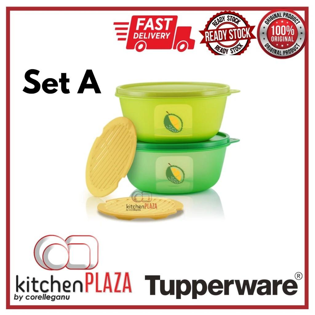 Tupperware Ultimate Durian Keeper Set 1.5L/Bekas simpan durian/kedap udara/kedap bau