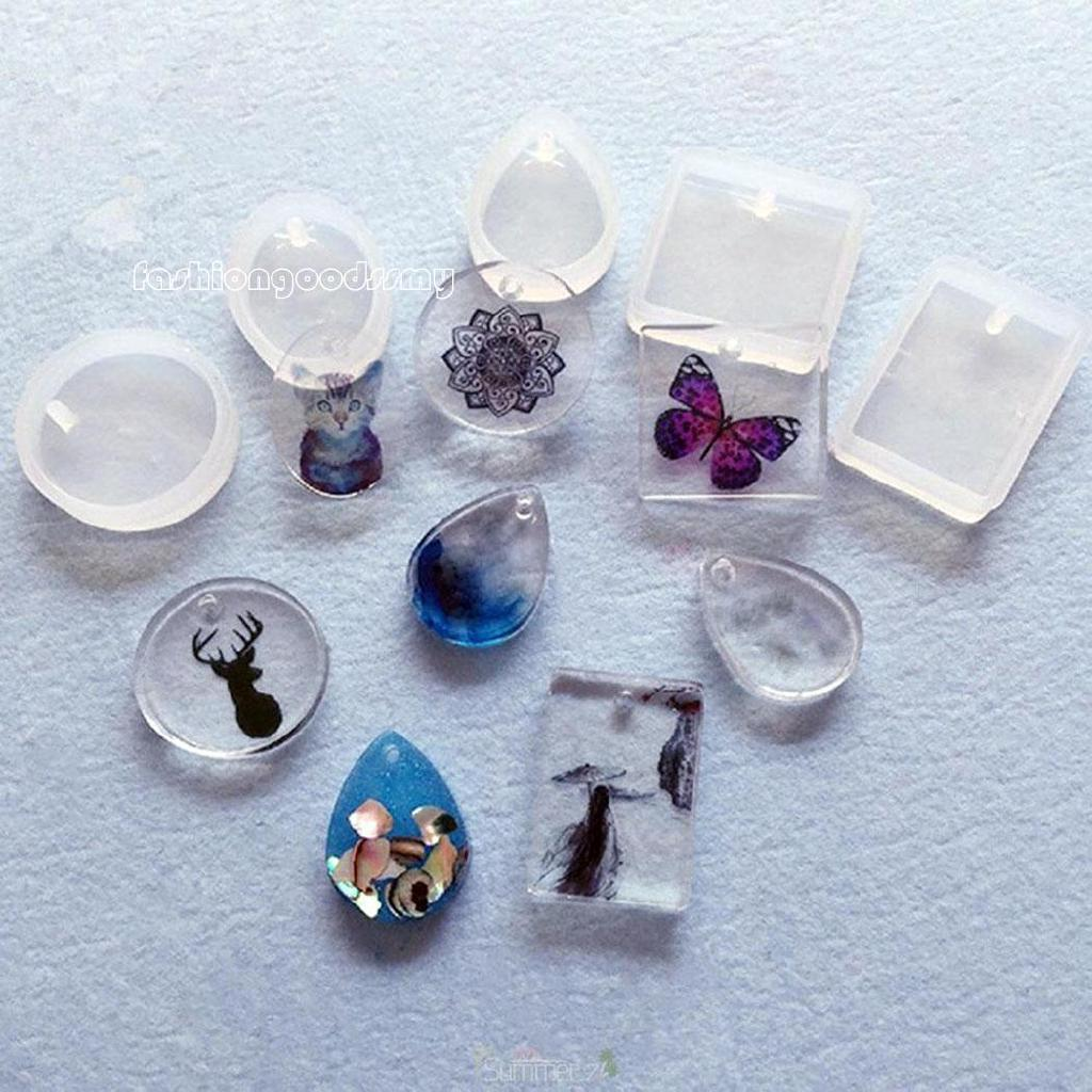 fa Jewelry Pendant Resin Casting Mould DIY Clear Silicone Mold Making Craft