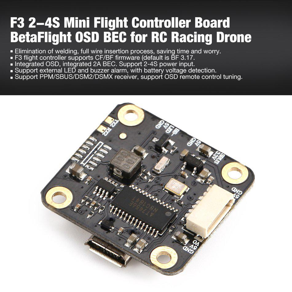 BetaFlight F405-CTR Flight Controller with PDB OSD 5V/2A BEC Current