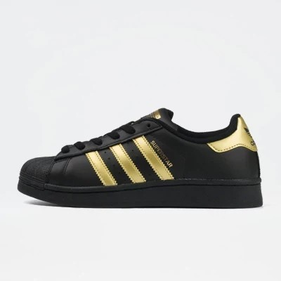 adidas superstar shoes gold stripes