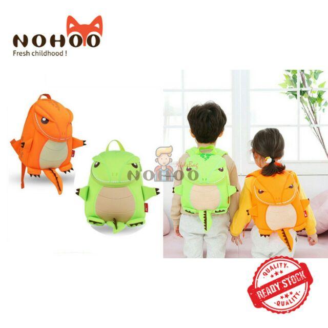 🔥NOHOO DINOSAUR 3D Hot and Cute Animal Kids School Bag Preschool Backpack