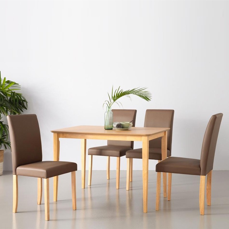 Furniture Direct solid wood Charmant 4 seater dining set/ set meja makan