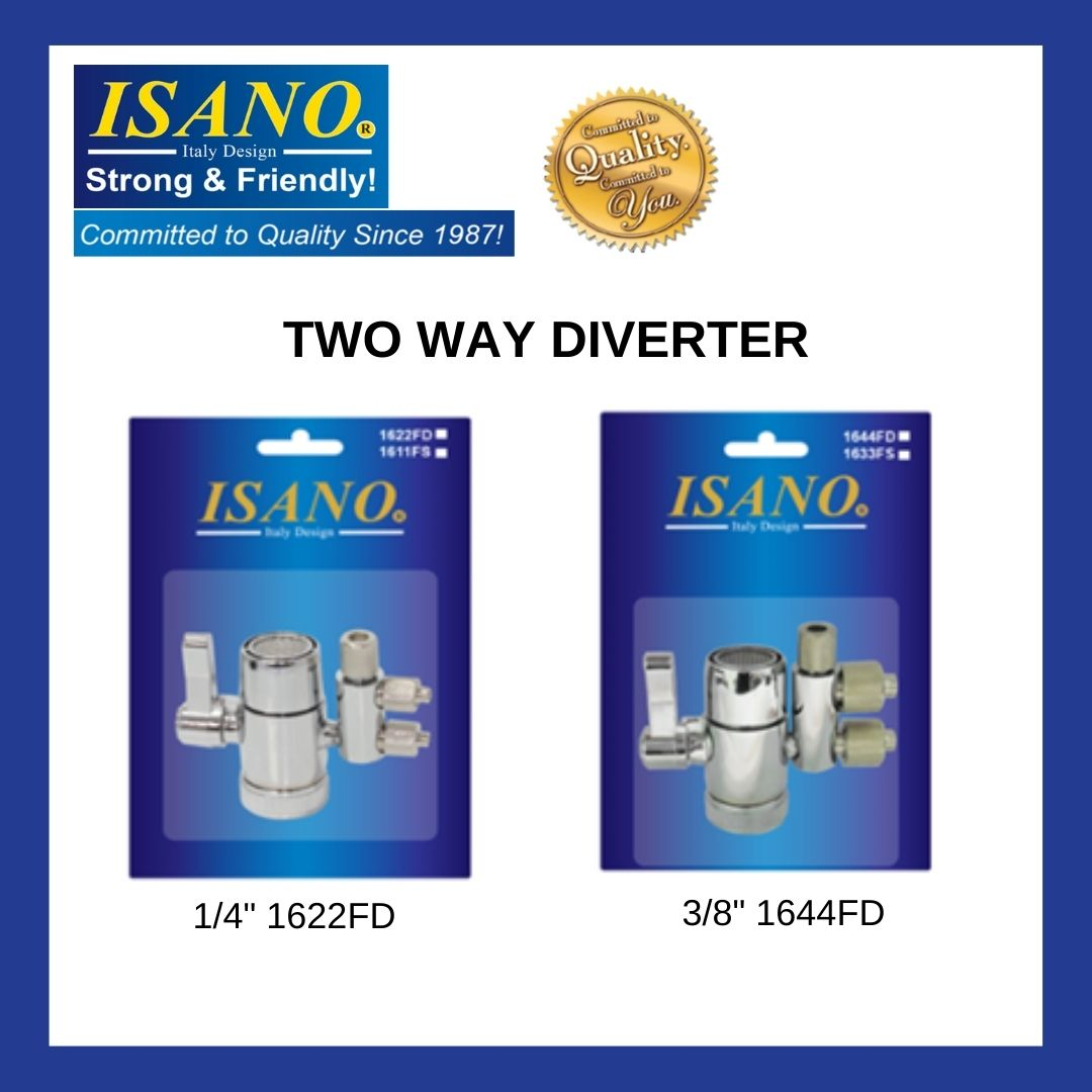 """ISANO Two Way Water Filter Diverter Valve For 1/4""""  /  3/8"""" Tube"""