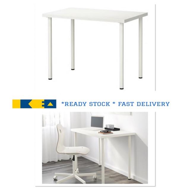 100x60 cm Table 2 X IKEA LINNMON//ADILS White