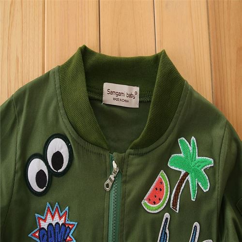 Kids Jacket Green Army Unisex Suit Ages 4-6y