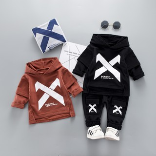 EG/_ BABY GIRL OUTFIT CARTOON RABBIT EAR HOODIE TOP+LONG PANTS SPORT SUIT CLASSY