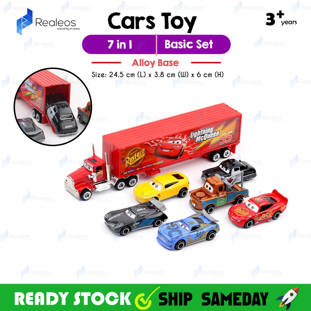 Disney Pixar Cars Lightning McQueen Mack Uncle Truck Toy Car Model 7Pcs Set   1e564bb1085b